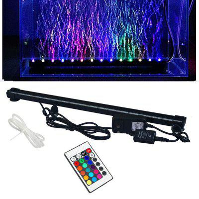 JIAWEN LED Aquarium Fish Tank Lumière Submersible Air Bubble Lampe Télécommande 47 CM AC100 -240 V