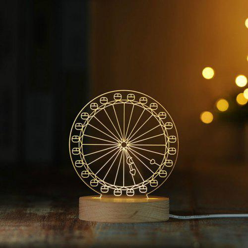 night light table modern contemporary creative 3d ferris wheel night light table lamp bedroom decoration with little girl gift