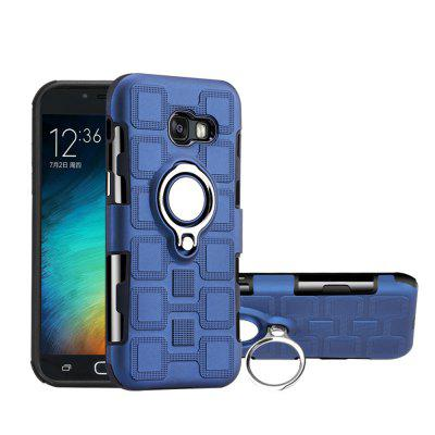 Cover Case for Samsung Galaxy A5 2017 Car Holder Stand Magnetic Suction Finger Ring PC+TPU Armor