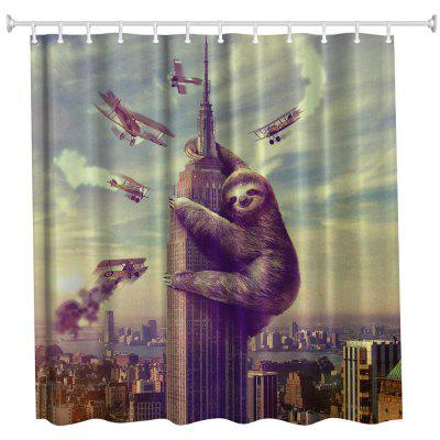 Sloth Polyester Shower Curtain Bathroom  High Definition 3D Printing Water-Proof