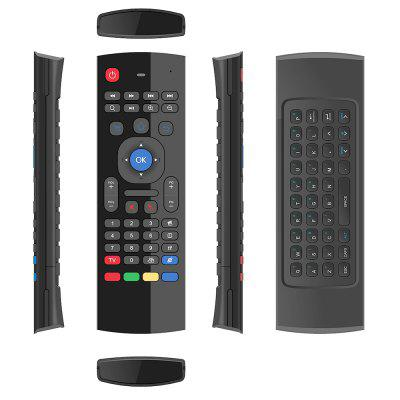MX 2.4G Wireless Remote Control Keyboard Air Mouse  -  BLACK