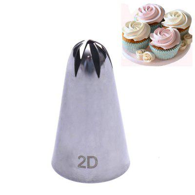 2D Rose Flower Cake Decorating Icing Tips Cupcake Nozzles
