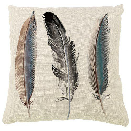 a23dcfd15777 Animal Feather Cotton Pillowcases Decorative Square Car Sofa Cushion Cover