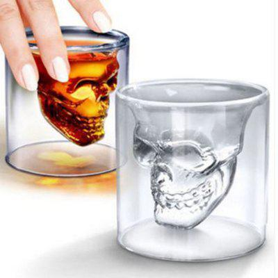 250ML Wine Cup Skull Glass Shot Beer Whiskey Halloween Decoration Creative Party Transparent Drinkware Drinking bone glass beer stan shooting glass head whiskey drinking popular design new fashion party