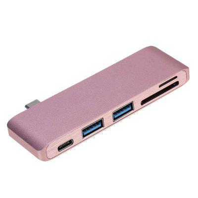 5 in 1 Type-C To USB3.0+ Micro USB+ Card Reader Adapter Hub for Macbook Laptop multi function usb 3 0 type c hub micro sd tf card reader otg adapter for macbook pro nokia 950 samsung galaxy s8 qjy99