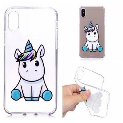 Case Cover for iPhone X Transparent Pattern Back Unicorn Soft TPU extreme heavy duty protective soft rubber tpu bumper case anti scratch shockproof rugged protection clear transparent back cover for iphone x