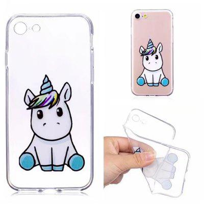 Case Cover for iPhone 8 / 7 Transparent Pattern Back Unicorn Soft TPU for iphone 7 4 7 inch gel tpu patterned case cover never stop dreaming