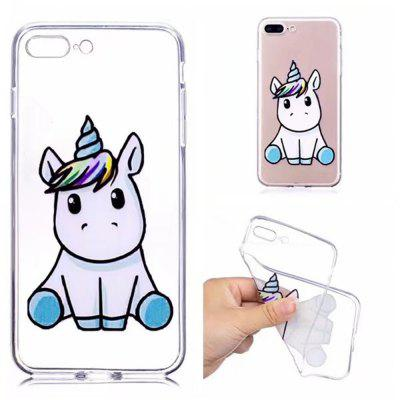 Case Cover for iPhone 8 Plus / 7 Plus Transparent Pattern Back Unicorn Soft TPU чехол apple leather sleeve для ipad pro 10 5 платиново серый mpu02zm a