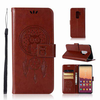 Lucky Wind Chimes The Owl Leather Cover for Samsung Galaxy S9 Plus Case With Stand Mobile Phone Accessory