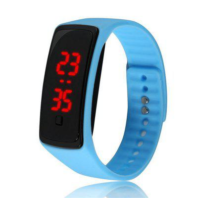 Reloj de pulsera de silicona V5 Fashion LED Digital Watch para niños