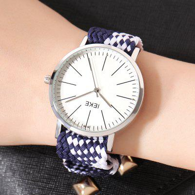 IEKE 89003 Women Fashion Knitted Strap Quartz Creative Watches