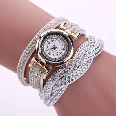 Фото Reebonz Multilayer Woven Pure Diamond Winding Diamond Fashion Quartz Watches