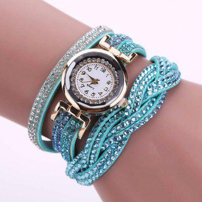 Reebonz Multilayer Woven Pure Diamond Winding Diamond Fashion Quartz Watches