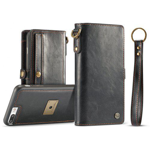the best attitude 1a110 e37d2 CaseMe for iPhone 8 Plus/ 7 Plus Wallet Case with Detachable Slim TPU PC  Leather Cover Hand Strap for Easily Taking