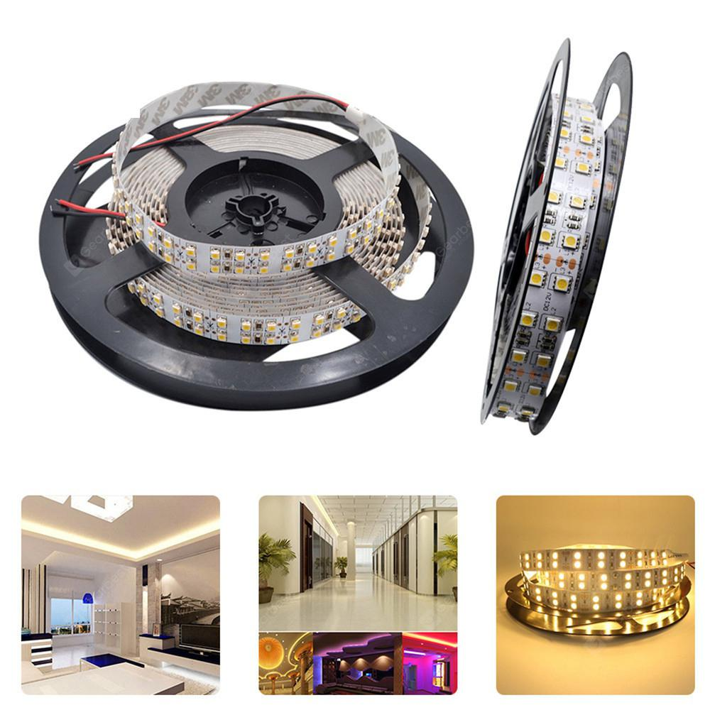 Ywxlight 5M 600LEDS 5050SMD Double Row LED Strip Flexible Light DC 12V