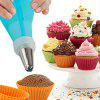 8 Pcs Stainless Steel Icing Tips Nozzles Silicone Piping Pastry Bag Cake Decorating DIY Tools - BLUE