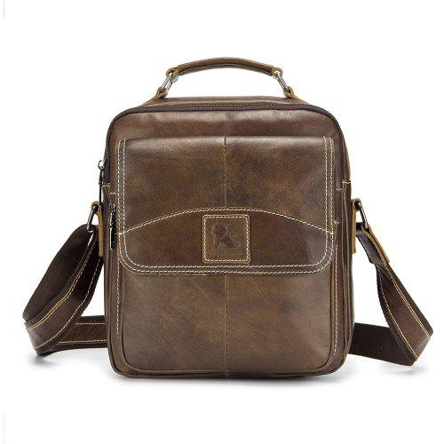 14aa1c14adbc LAOSHIZI LUOSEN New Vintage Genuine Leather Men Bag Casual Business Travel  Men s Shoulder Bags Handbag Cowhide Crossbody -  33.66 Free  Shipping