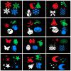 YWXLight LED Projection Lights Snowflake Christmas Light Outdoor Lighting AC 100 - 240V - BLACK