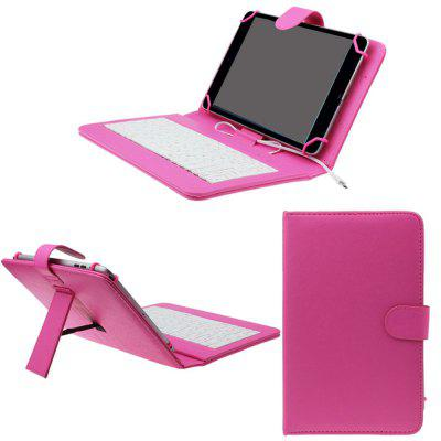 Фото PU Leather Case Keyboard Flip Holster for Smartphone 7 inch Mobile Phone Cover new 7 inch
