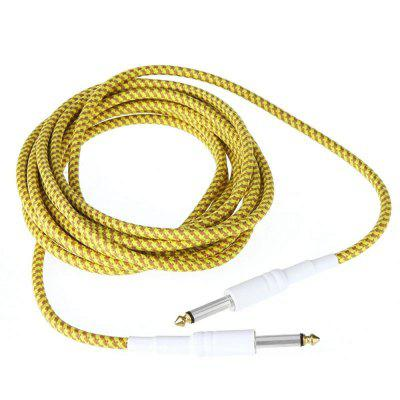 Electric guitar line 6.35or gold braided mesh 5 meters.
