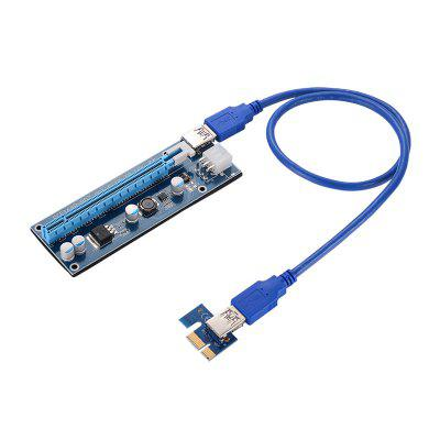 USB 3.0 PCI-E Express 1x To 16x GPU Extender Riser Card Adapter Power BTC Cable riser card 60cm pcie pci e pci express card 1x to 16x usb 3 0 data cable sata to 6pin ide power supply for miner machine