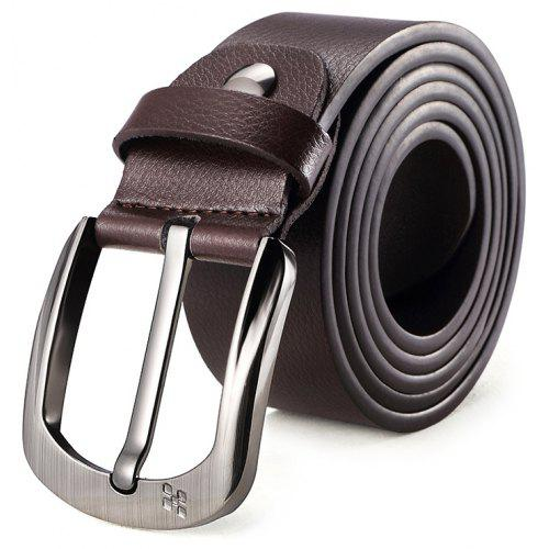 Men/'s Leather Belt Headless Double-sided Lychee strip Automatic BuckleWaistband.