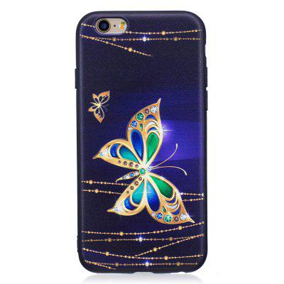 Relief Silicone Case for iPhone 6 Plus / 6S Plus Large Butterfly Pattern Soft TPU Protective Back Cover vouni galaxy series glittery powder soft tpu cover for iphone 6s plus 6 plus 5 5 inch blue