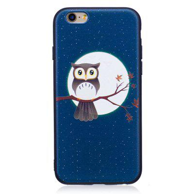Фото Relief Silicone Case for iPhone 6 Plus / 6S Plus Moon and Owl Pattern Soft TPU Protective Back Cover gumai silky case for iphone 6 6s black