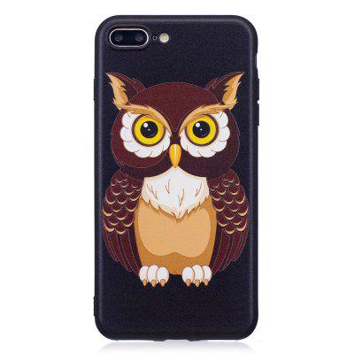 Relief Silicone Case for iPhone 7 Plus / 8 Plus Owl Pattern Soft TPU Protective Back Cover fashion printing color pattern soft tpu back phone case for iphone 7 plus