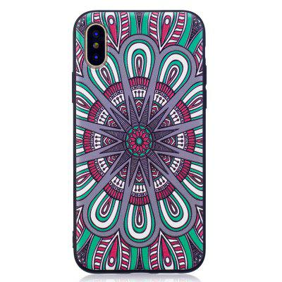 Relief Silicone Case for iPhone X Mandala Pattern Soft TPU Protective Back Cover extreme heavy duty protective soft rubber tpu bumper case anti scratch shockproof rugged protection clear transparent back cover for iphone x