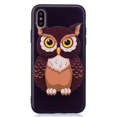 Relief Silicone Case for iPhone X Owl Pattern Soft TPU Protective Back Cover extreme heavy duty protective soft rubber tpu bumper case anti scratch shockproof rugged protection clear transparent back cover for iphone x