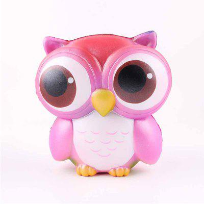 Jumbo Squishy Squeeze PU Owl Packaging Collection Gift Soft Toy