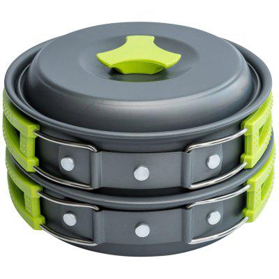 Portable Outdoor Cookware Set 1 - 2 Persons Cooking Utensil