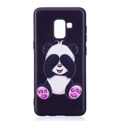 Relief Silicone Case for Samsung Galaxy A8 2018 Panda Pattern Soft TPU Protective Back Cover