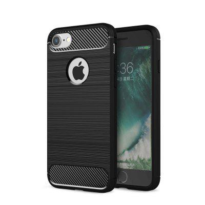 Case for iPhone 7 Luxury Carbon Fiber Anti Drop TPU Soft Cover for iphone 7 4 7 inch gel tpu patterned case cover never stop dreaming