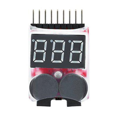 Battery Monitor Alarm Tester Checker Low Voltage Buzzer Alarm with LED Indicator for