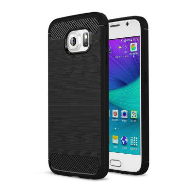 Case for Samsung Galaxy S6 Luxury Carbon Fiber Anti Drop TPU Soft Cover