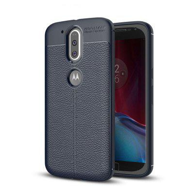 Hoesje voor Motorola Moto G4 / G4 Plus Litchi Grain Anti-drop TPU Soft Cover