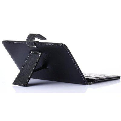 Engelse Keyboard Case voor 7 inch Tablet PC Pad lederen cover met micro-USB