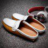 ZEACAVA Slip-on Leather Flat Slippers for Men - YELLOW