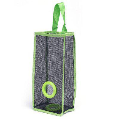 Hanging Breathable Grid Kitchen Trash Storage Green Hanging Bags