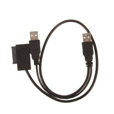 Cwxuan USB 2.0 to 7+6 13Pin Slimline Slim SATA CD DVD Adapter Cable