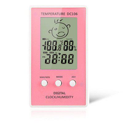 Thermometer Hygrometer LCD Digitale klok Temperatuur Logger Luchtvochtigheid Indoor Outdoor