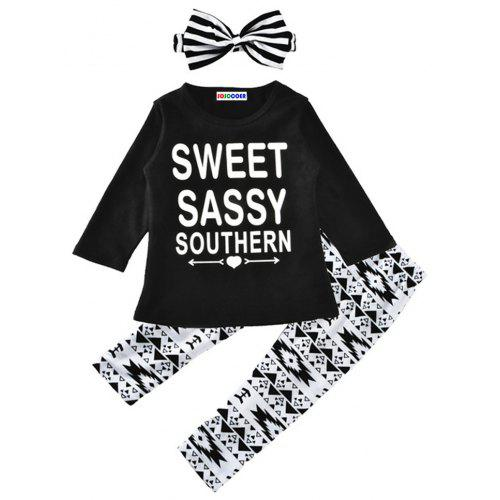 287aed9f6 SOSOCOER Kids Girls Clothes Set Long Sleeved T-shirt + Long Pants + Hair  Band Three Pieces | Gearbest