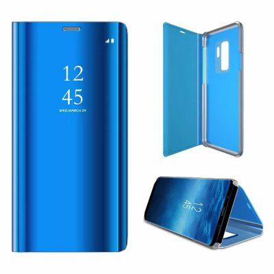 Cover Case for Samsung Galaxy S9 Plus Mirror Flip Leather Clear View Window Smart