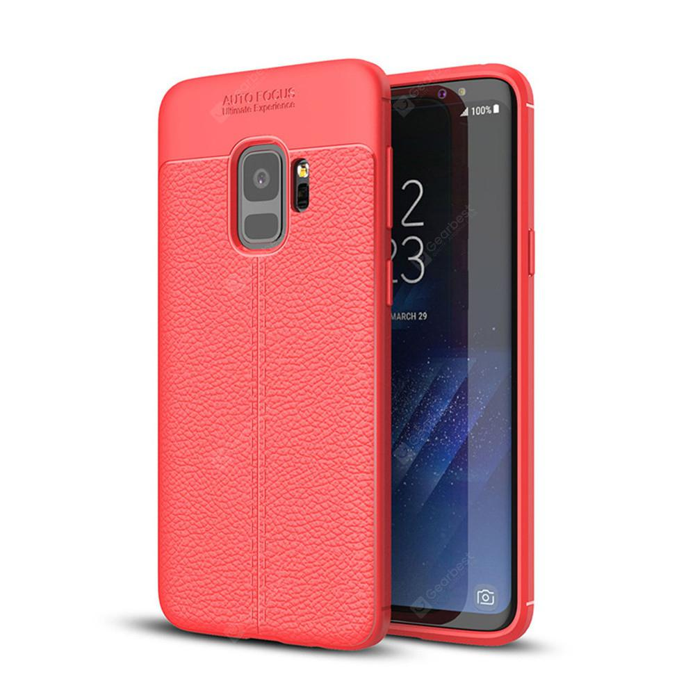 Cover Case for Samsung Galaxy S9 Luxury Original Shockproof Armor Soft Leather Carbon TPU
