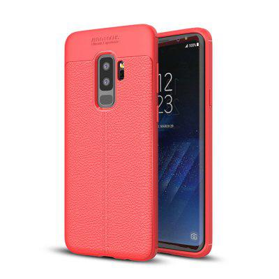 Cover Case for Samsung Galaxy S9 Plus Luxury Original Shockproof Armor Soft Leather Carbon TPU