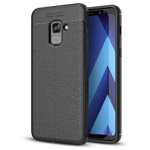Cover Case for Samsung Galaxy A8 2018 Luxury Original Shockproof Armor Soft Leather Carbon TPU
