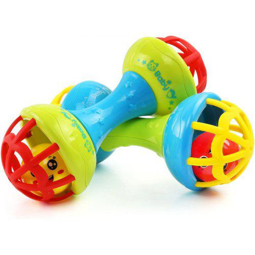 1Pc Mini Wooden Baby Rattle Toy Hand Shake Bell Educational Toy For Kid Gift