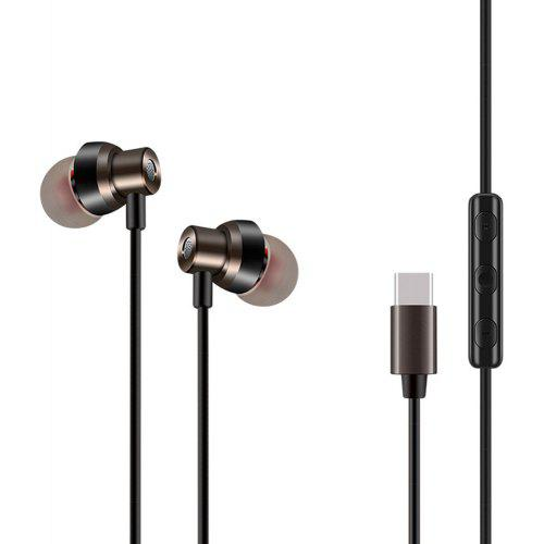 7e0d442a5b0 USB Type C Earbud Headphones with Mic and Volume Control Wired In-Ear Extra  Bass